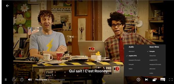 Sous-titres en français sur Netflix