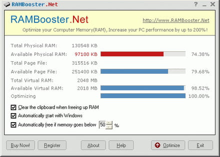 Télécharger RAMBooster 2.0. Control and optimize the use of your RAM memory. RAMBooster is a fantastic tool for people that don't have a lot of main memory or use ...