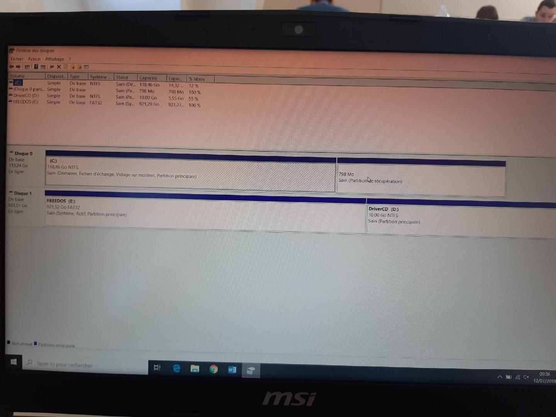 Formater partition système d'un 2ème HDD     [Résolu] - Système