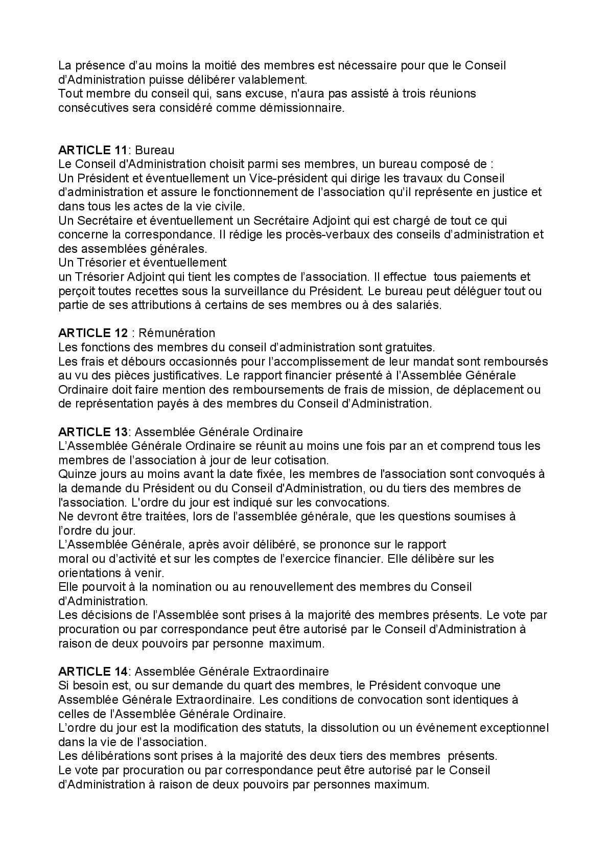 Creation D Association De Quartier