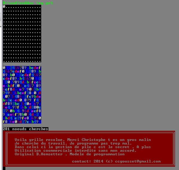 C / C++ / C++ NET : Grille sudoku 16x16 ELEKTOR Resolution - CodeS