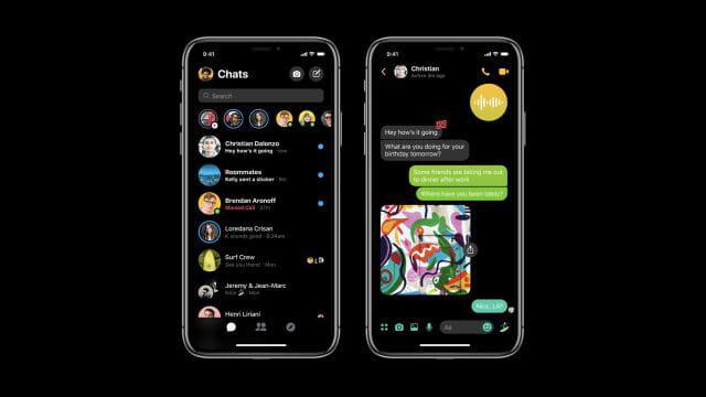 Un mode sombre bientôt sur Messenger