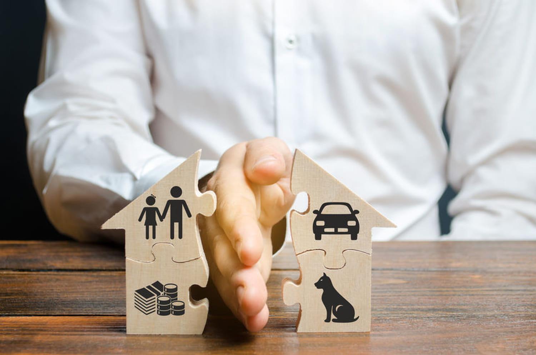 Séparation-rupture (concubinage): partage des biens et logement