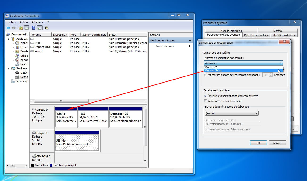 how to create a recovery partition windows 7