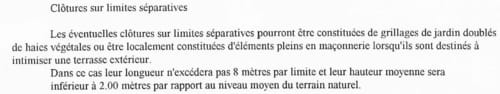 Questions relative aux clotures en limite de propri t s - Cloture en limite de propriete ...