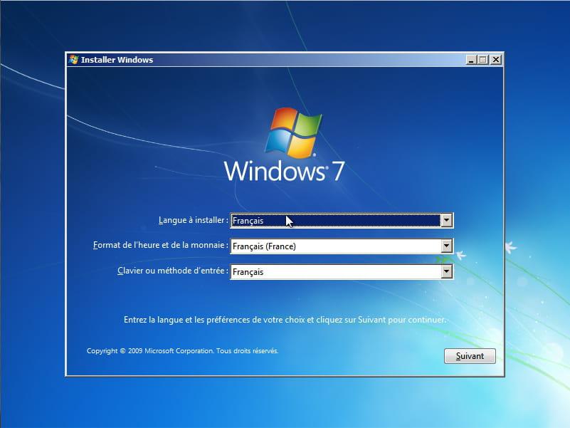 comment réinstaller windows 7