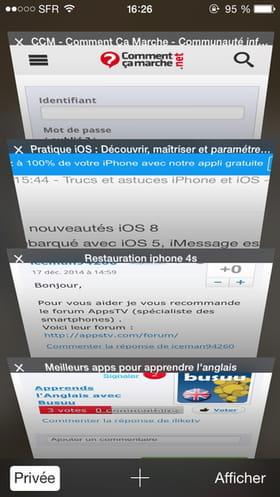 Sachez Que Votre IPhone 6 Garde Les Pages Web Visites Ouvertes Ce Qui Consomme Au Passage Batterie