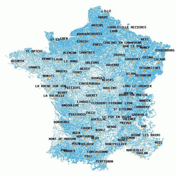 carte des communes de france PHP : Carte interactive des communes de france   CodeS SourceS