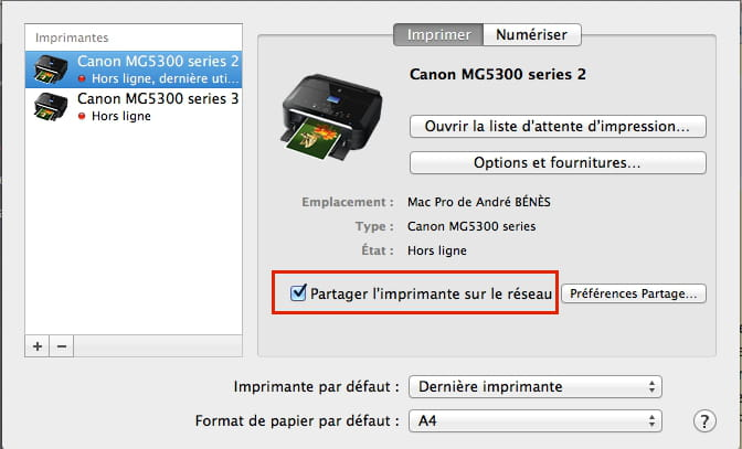 comment connecter une imprimante epson xp 325 en wifi sur mac. Black Bedroom Furniture Sets. Home Design Ideas