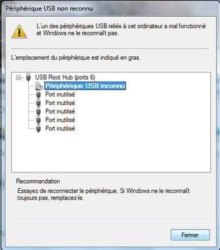 Port USB non reconnu : Que faire ?