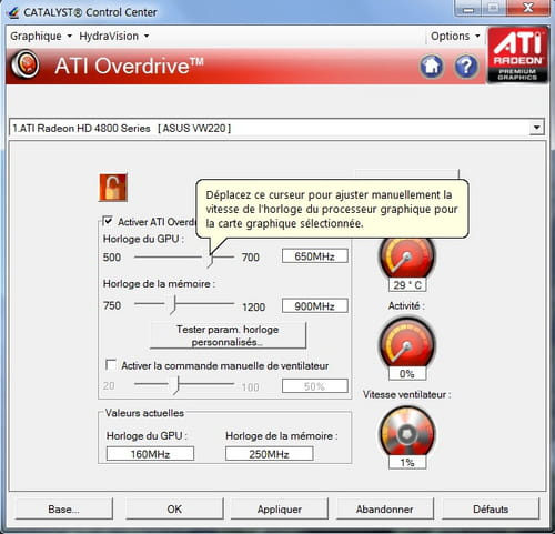 Overclocking simple : Carte graphique AMD/ATI