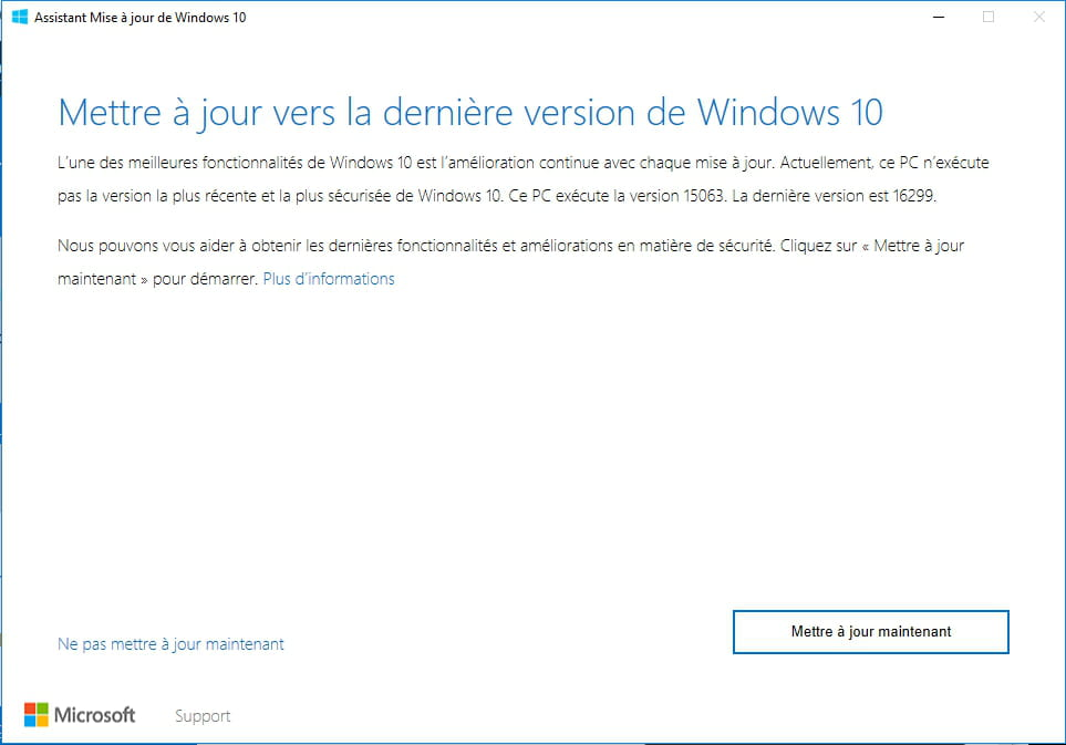 Windows 10 1803 - Installer la mise à jour Windows 10 April Update