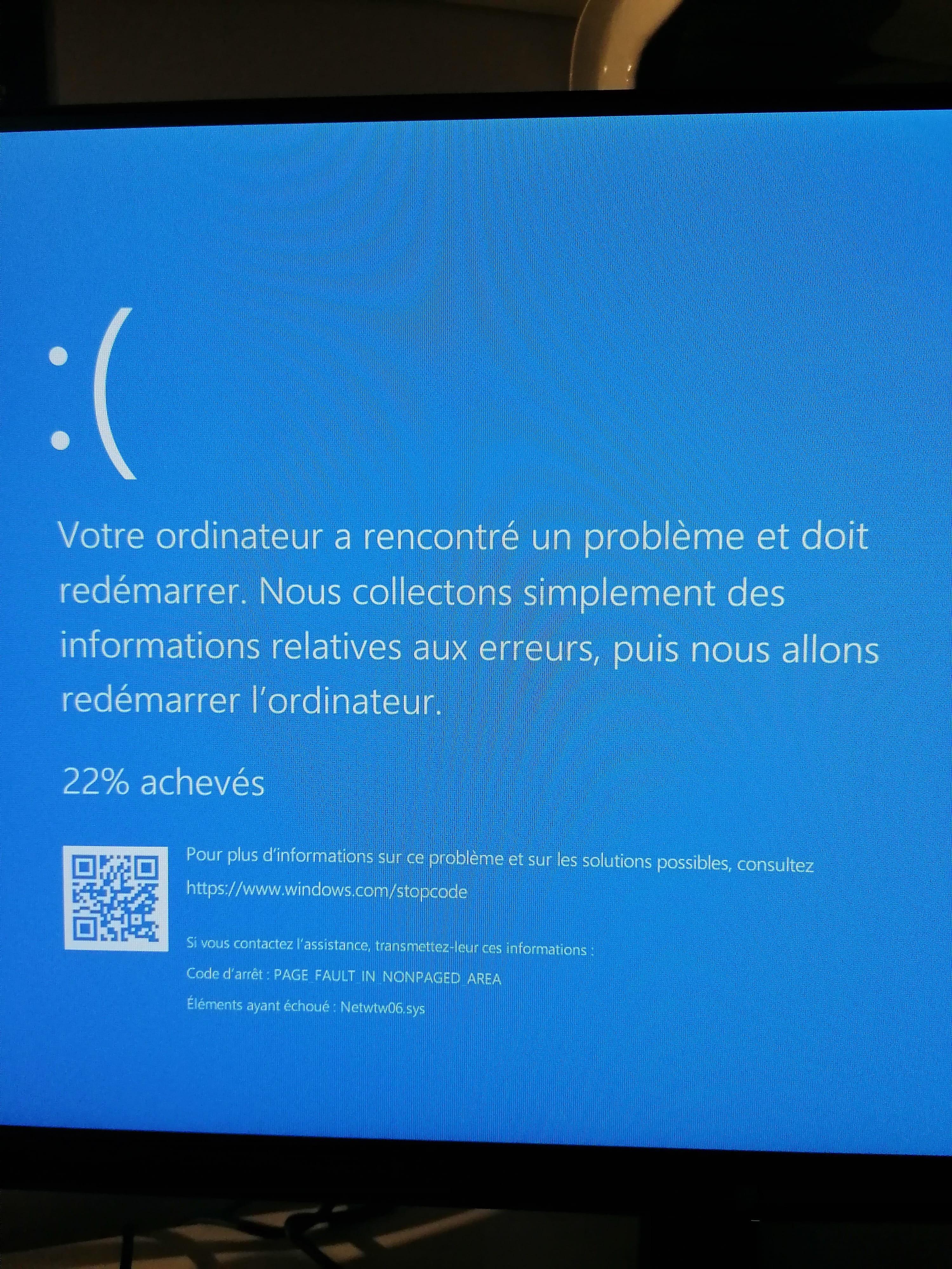 Page bleu/Ecran bleu Windows : comment se débarrasser de l'écran bleu