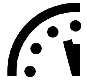 Deux minutes avant minuit (selon l'horloge de fin du monde)