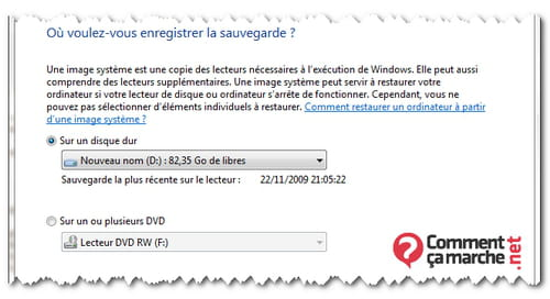 Creer Une Image Du Systeme Avec Windows 7 Comment Ca Marche