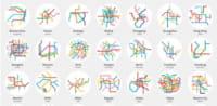 Les métros du monde entier en mini maps