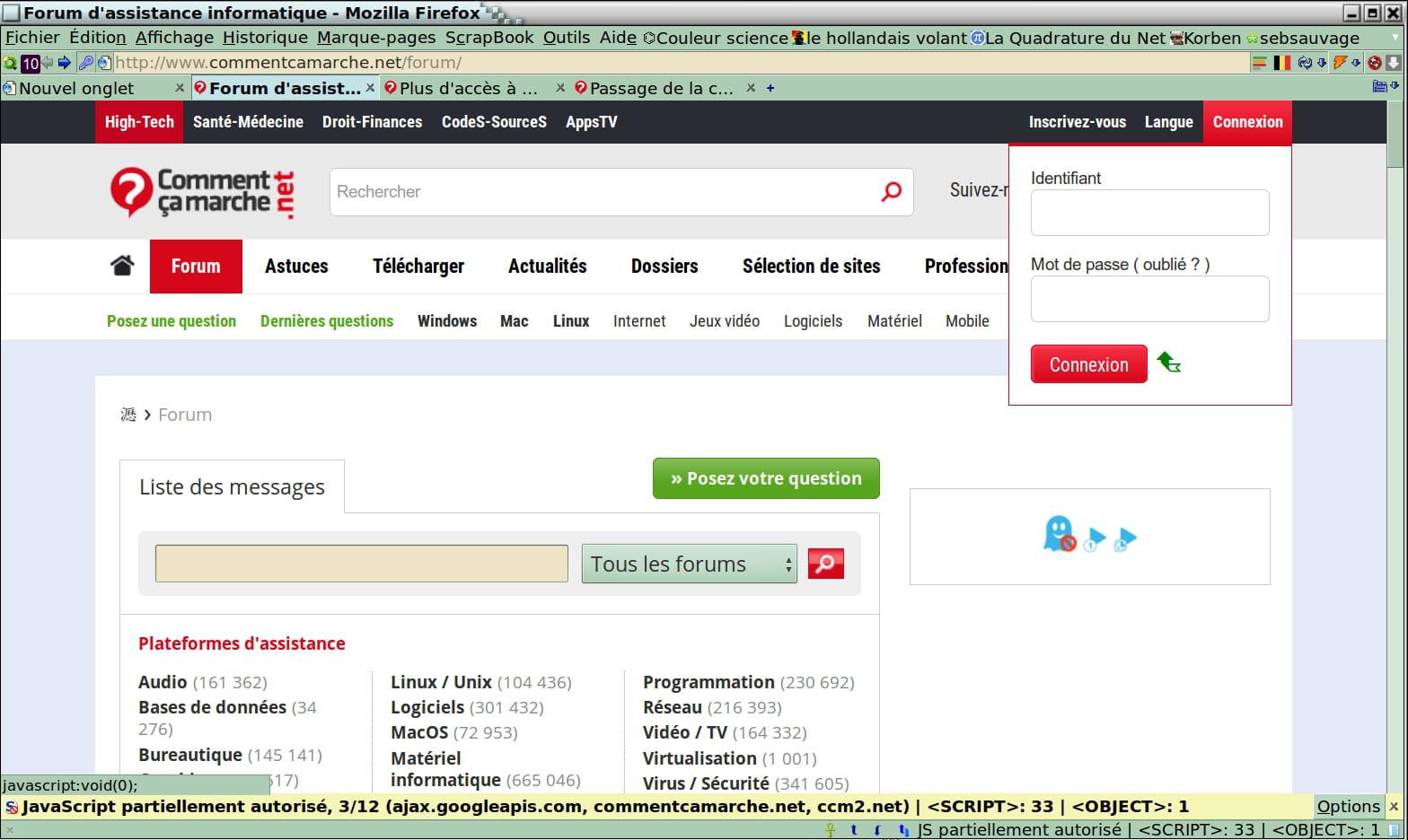 scripts de datation Open source