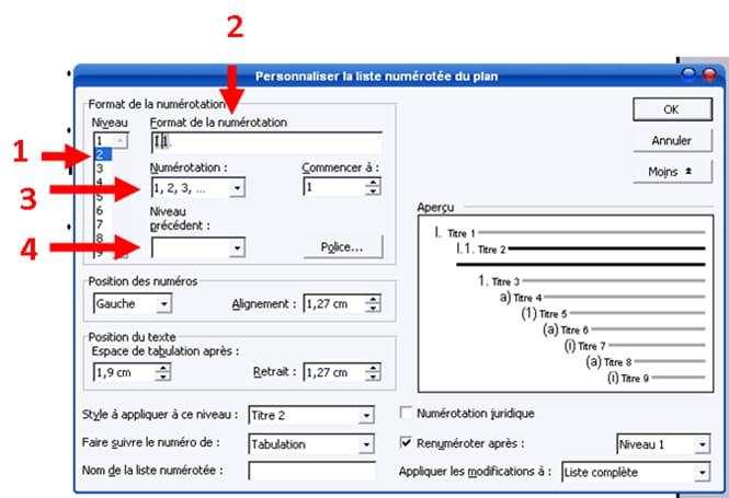 Sommaire automatique sous word table des mati res - Exemple table des matieres ...