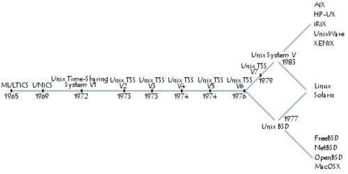 chronogramme des différentes versions d\