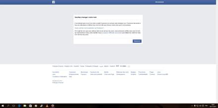 probl me changement de nom sur fb r solu facebook. Black Bedroom Furniture Sets. Home Design Ideas