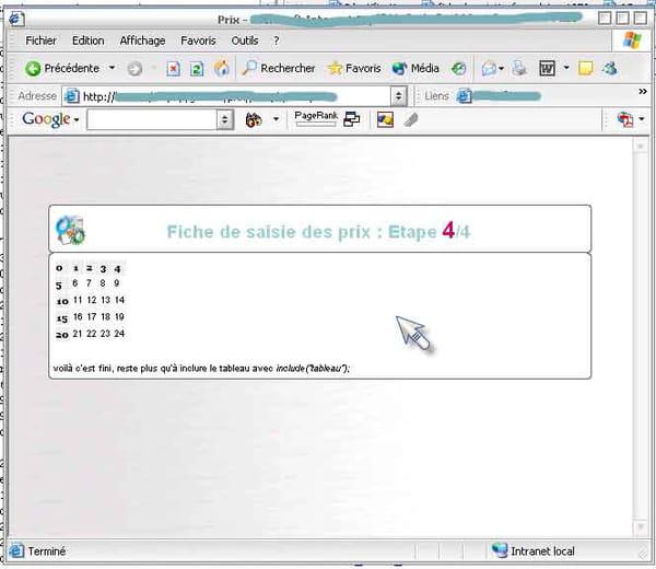 PHP : Tableau dynamique simple sans mysql + création d'1 .php + feuille css en 4 étapes (200 ...