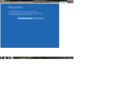 Probleme Maj Windows Restauration