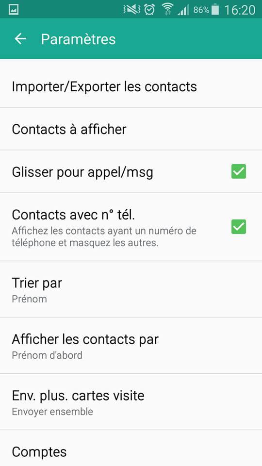 Cliquez Sur Importer Exporter Les Contacts