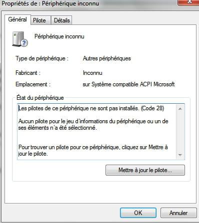 Périphérique inconnu ACPI Microsoft [Résolu]