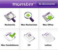 Le site d'offres d'emplois Monster lance une application iPhone