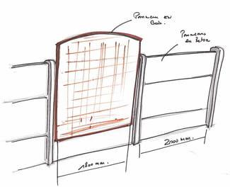 Fixation de panneaux en bois sur cl ture en b ton r solu - Comment fixer panneau bois sur grillage ...