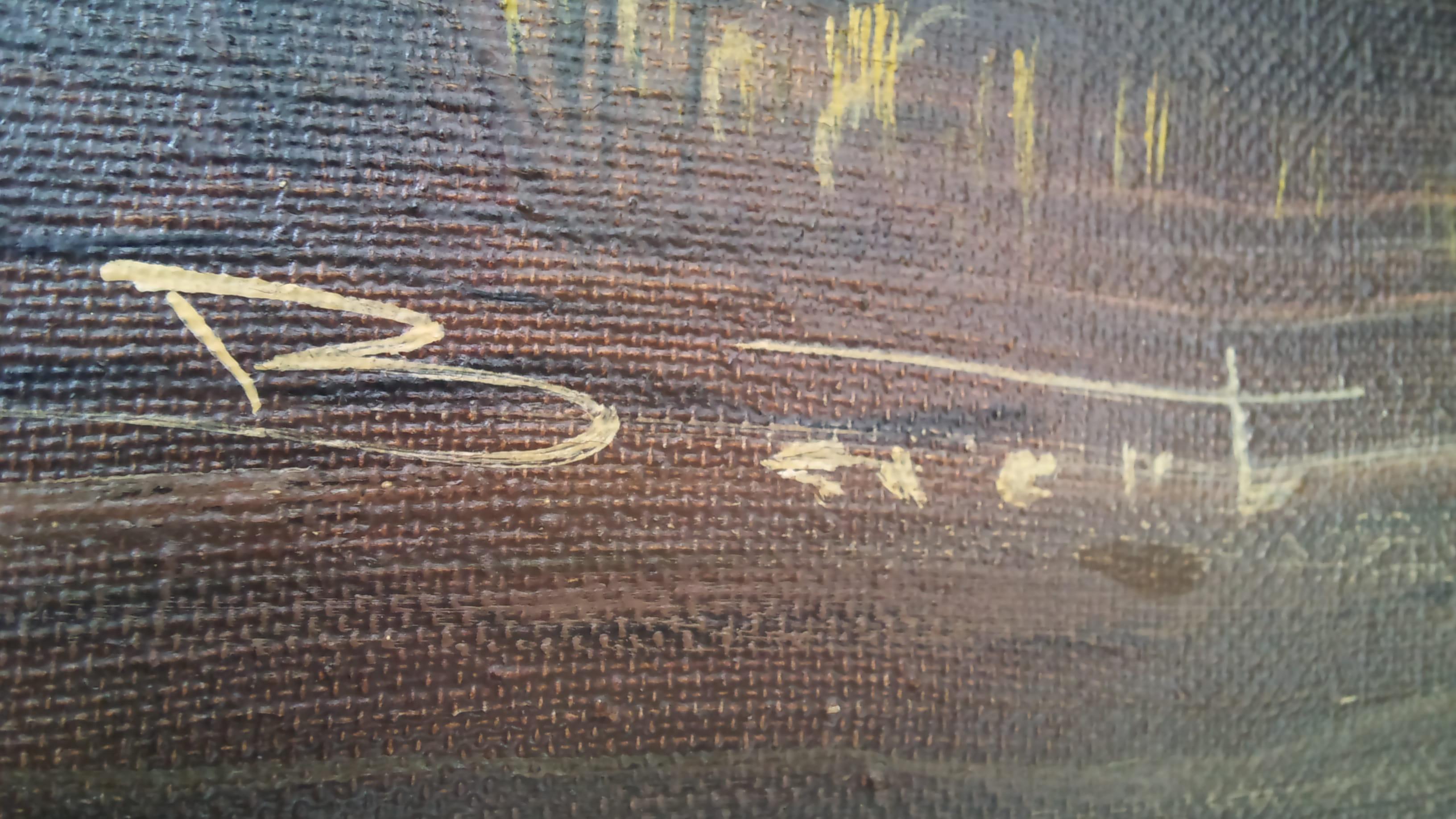 Nettoyer Un Vieux Tableau identification d'un peintre à partir d'une signature