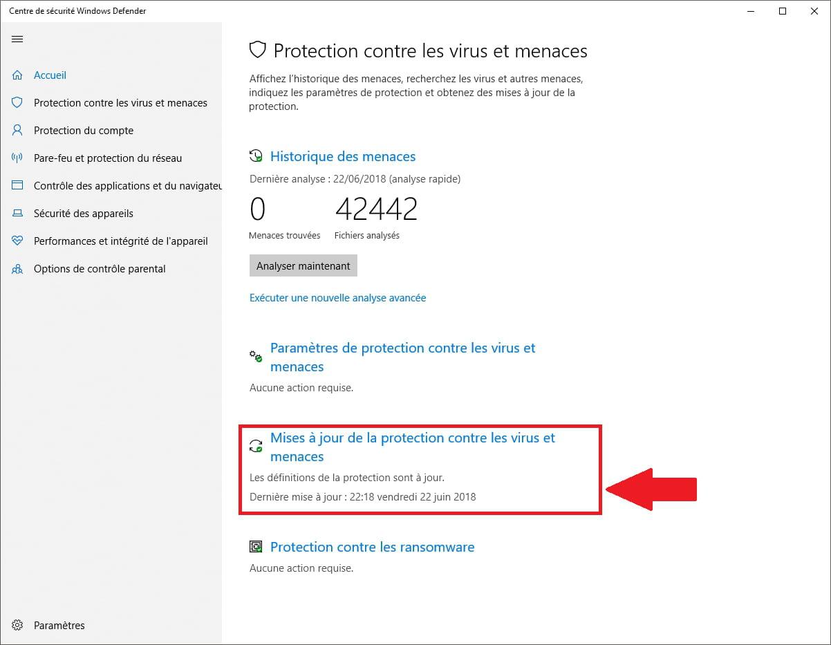 Windows Defender Les Mises A Jour