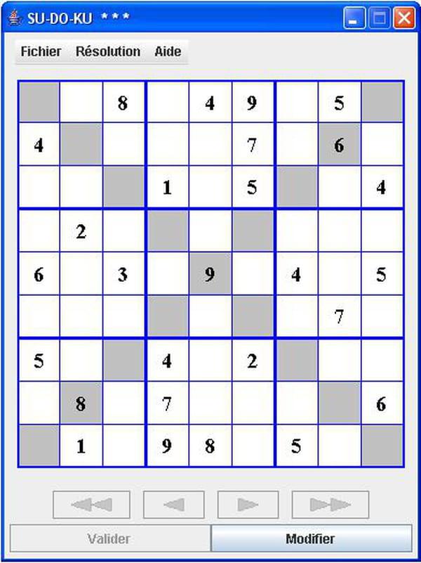 Java Jeu De Sudoku Avec Cr 233 Ation Et R 233 Solution De