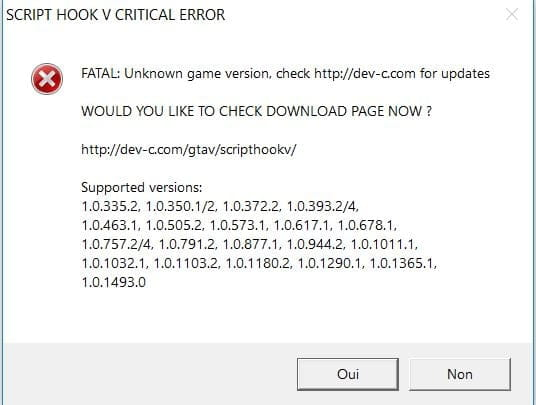Gta 5 Pc Script Hook V Critical Error