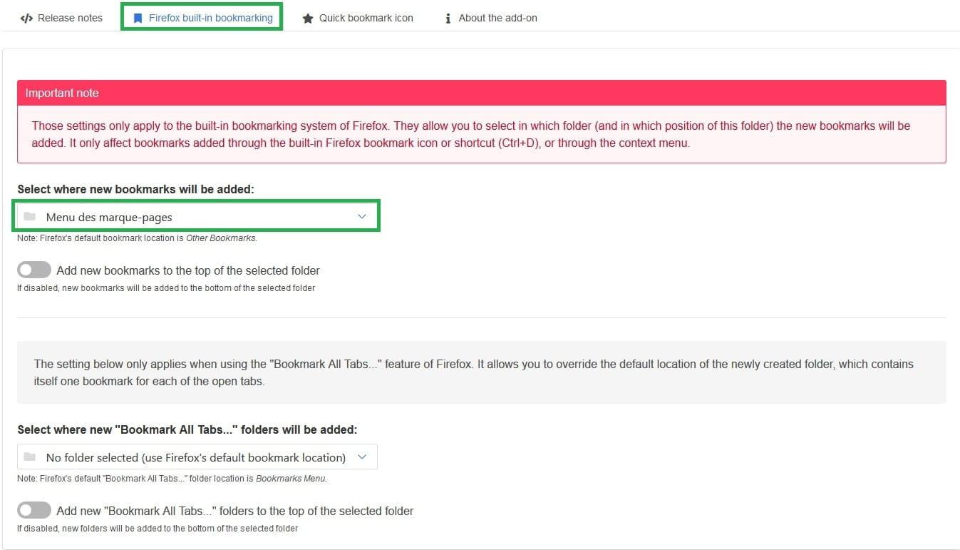 Enregistement Dans Menus Marque Pages Firefox Resolu