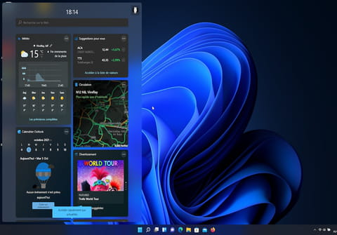 Widgets Windows 11: ajouter et configurer des modules