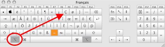 accent sur a majuscule et  u00e7 majuscule sur clavier fran u00e7ais