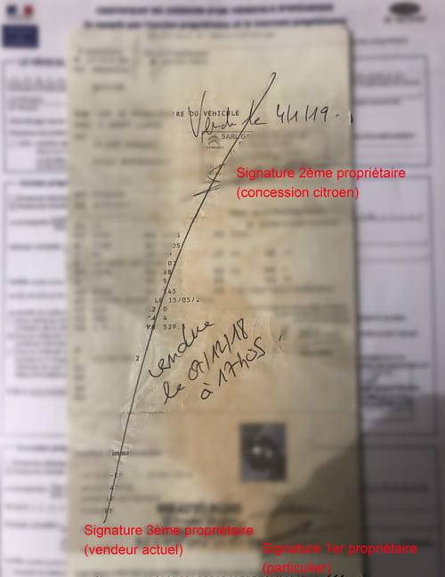 carte grise véhicule occasion Achat véhicule occasion carte grise déjà barrée (signée deux fois