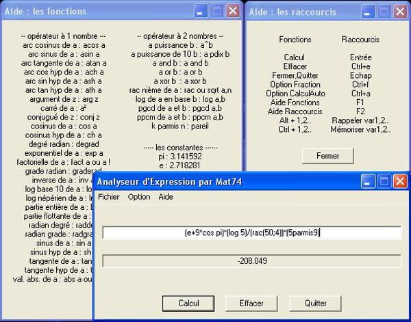 C / C++ / C++ NET : Analyseur d'expression avec l'api