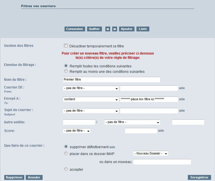 comment fermer une adresse mail free
