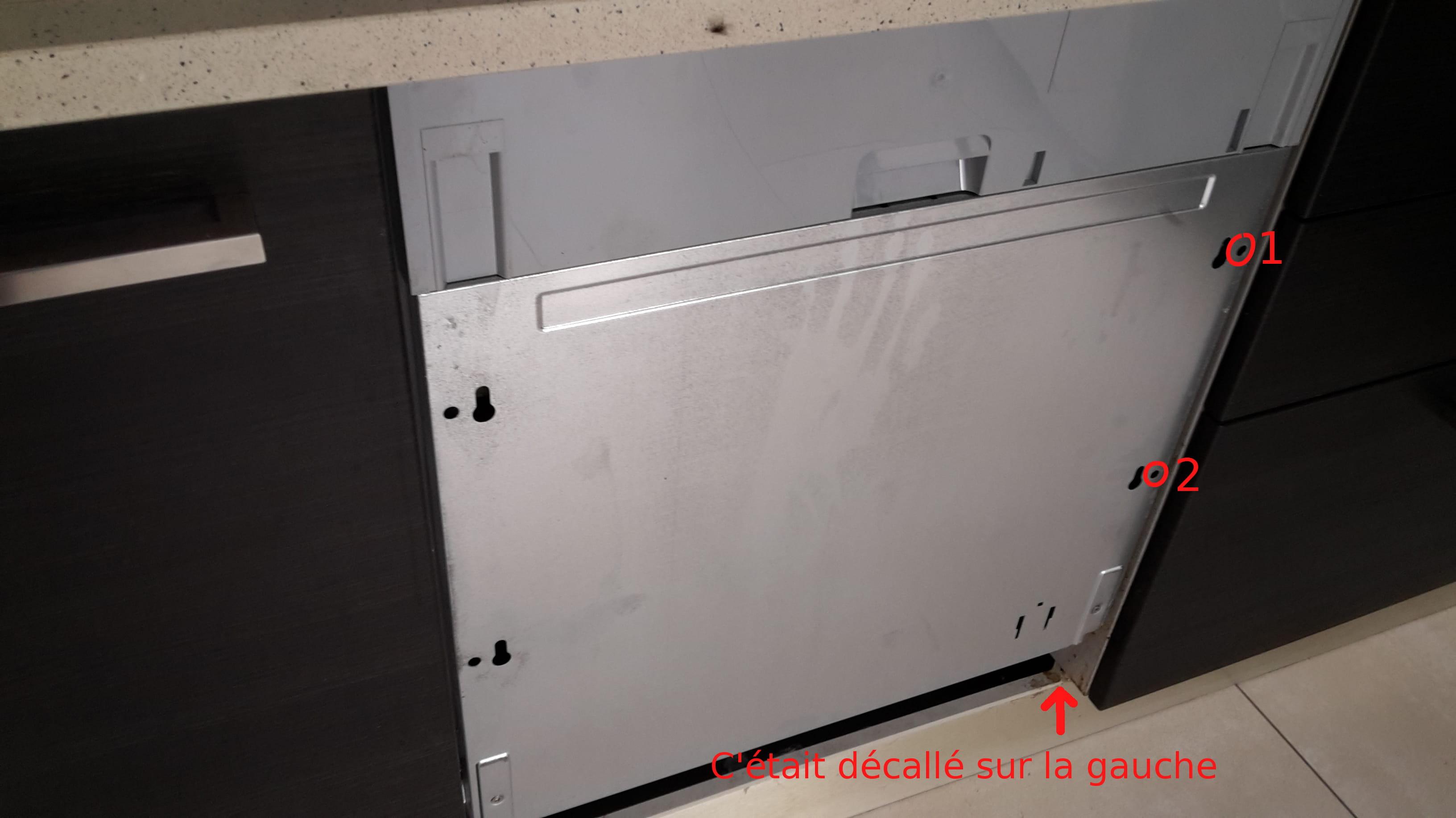 pas de vis plaque de parement porte lave vaisselle arrach s. Black Bedroom Furniture Sets. Home Design Ideas
