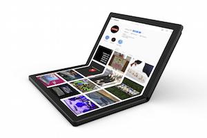 Lenovo présente le premier PC portable à écran pliable