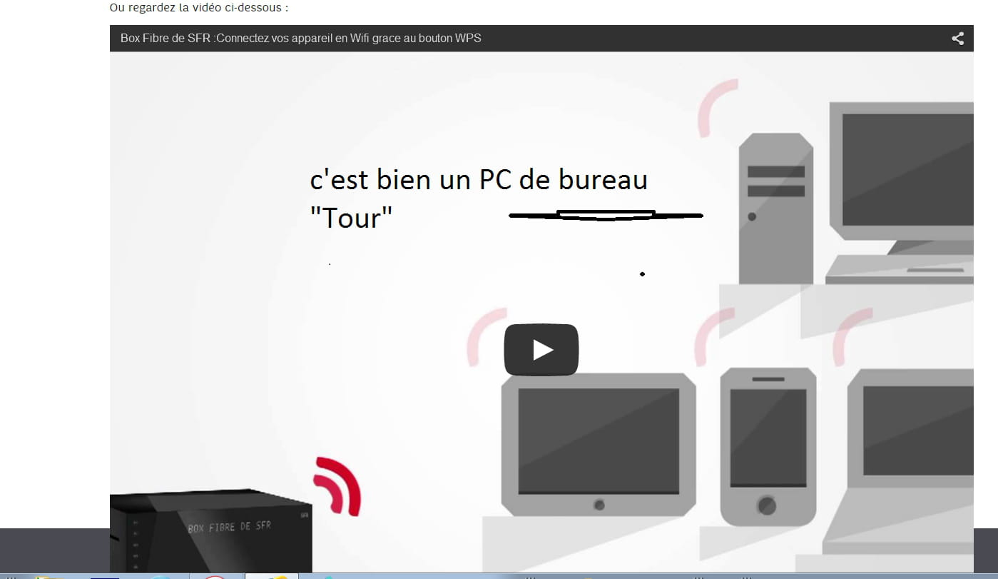impossible de connecter en wifi mon pc avec box fibre sfr. Black Bedroom Furniture Sets. Home Design Ideas