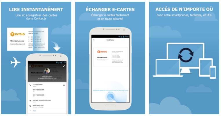 CamCard Permet Dembarquer Jusqua 200 Cartes De Visite Et Suffit Bien Pour Une Utilisation Grand Public En Savoir Plus Sur Le Site L Application