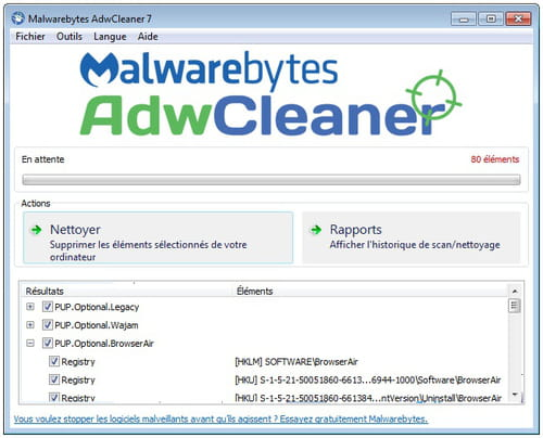 T l charger adwcleaner gratuit for Logiciel anti fenetre publicitaire
