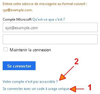 Hotmail messenger mot de passe oublié
