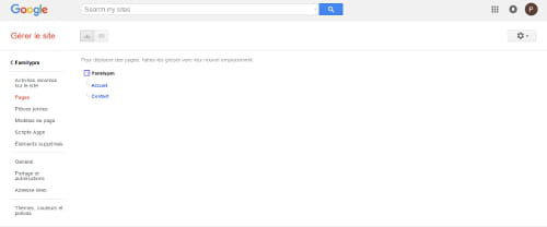 cr u00e9er un site avec google
