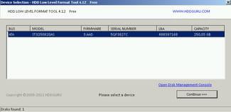 hddguru low level format bootable
