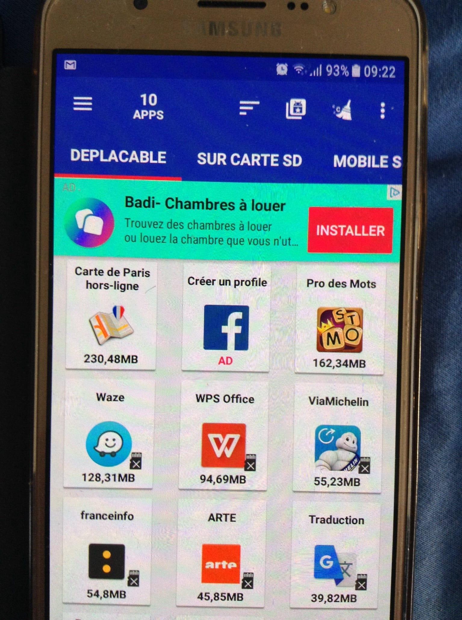 impossible de deplacer application sur carte sd PLAY STORE INSTALLER DIRECTEMENT SUR LA CARTE SD   Télécharger