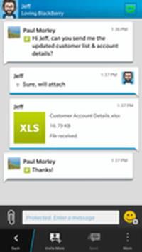 BlackBerry lance une messagerie instantanée sécurisée pour les professionnels
